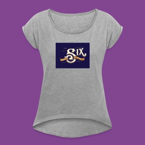 the 6 blue - Women's Roll Cuff T-Shirt