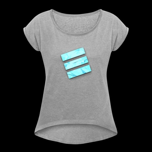 Durene logo - Women's Roll Cuff T-Shirt