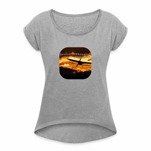 "InovativObsesion ""TAKE FLIGHT"" apparel - Women's Roll Cuff T-Shirt"
