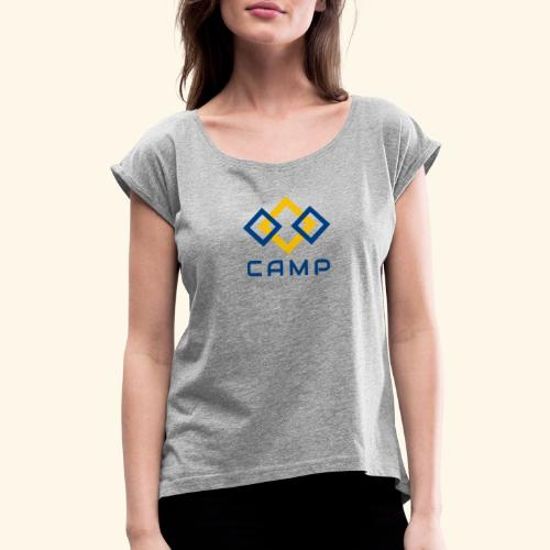 CAMP LOGO and products - Women's Roll Cuff T-Shirt