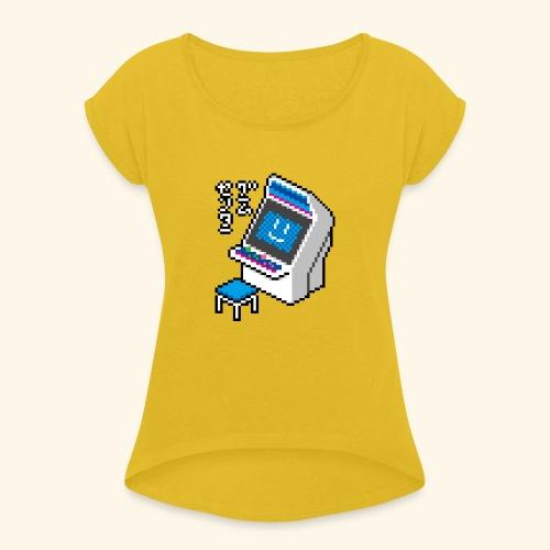 Pixelcandy_BC - Women's Roll Cuff T-Shirt