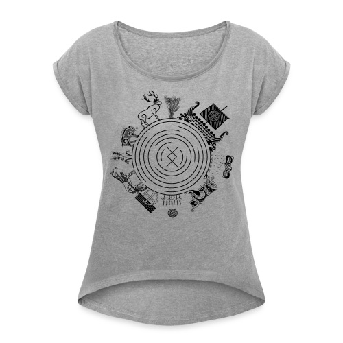 Freyr - God of the World - Women's Roll Cuff T-Shirt
