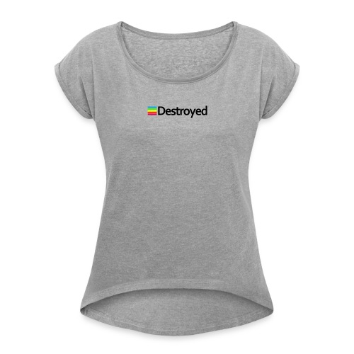 Polaroid Destroyed - Women's Roll Cuff T-Shirt