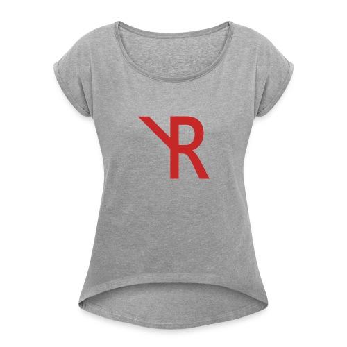 YR Logo - Women's Roll Cuff T-Shirt