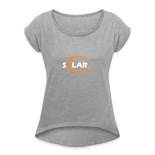 Nebraska Eclipse Tshirts - Nebraska Total Solar Ec - Women's Roll Cuff T-Shirt