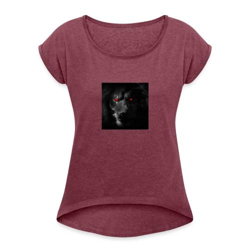 Black ye - Women's Roll Cuff T-Shirt