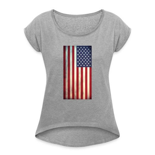 the american flag wear and Accessories - Women's Roll Cuff T-Shirt