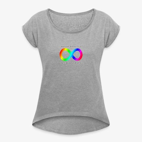 Embrace Neurodiversity - Women's Roll Cuff T-Shirt