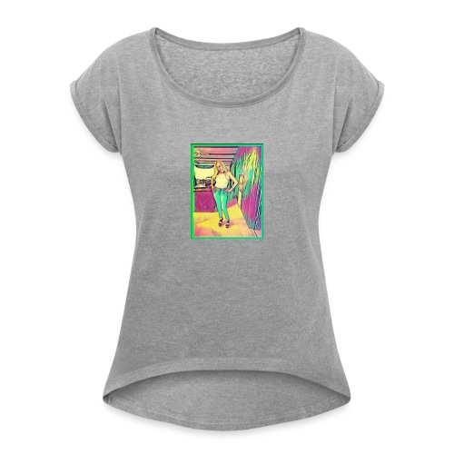 Beauty Queen - Women's Roll Cuff T-Shirt