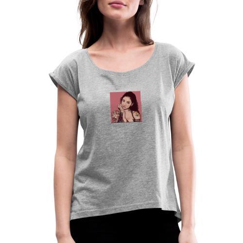 Kehlani vibes - Women's Roll Cuff T-Shirt