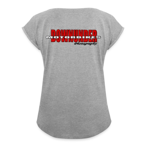 downunder motorbike - Women's Roll Cuff T-Shirt
