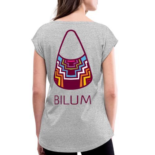 Awesome Bilum design - Women's Roll Cuff T-Shirt