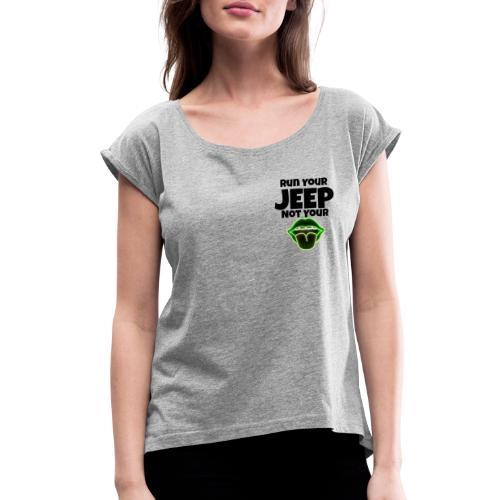 Run Lime - Women's Roll Cuff T-Shirt