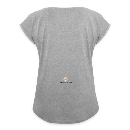 gogetitLOGO1 - Women's Roll Cuff T-Shirt