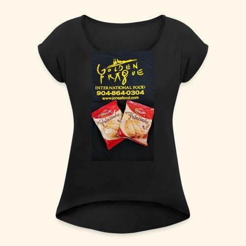 Golden Prague - Women's Roll Cuff T-Shirt