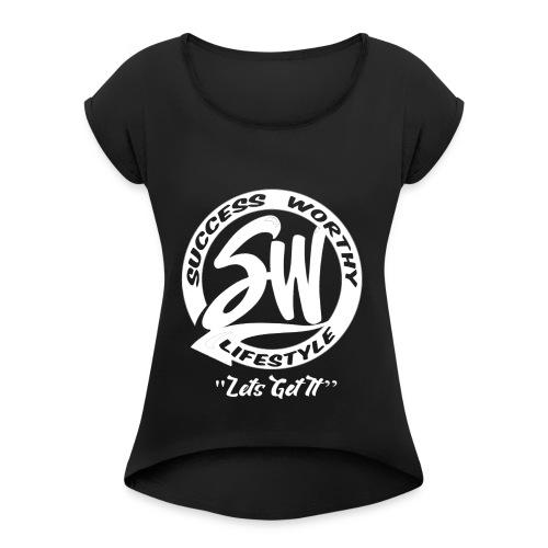 SW_white - Women's Roll Cuff T-Shirt