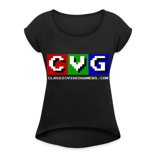 CVG Logo - Women's Roll Cuff T-Shirt