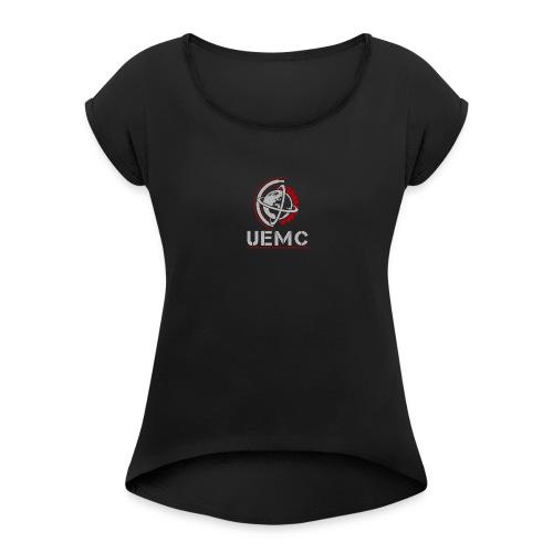 UEMC Logo Grey - Women's Roll Cuff T-Shirt