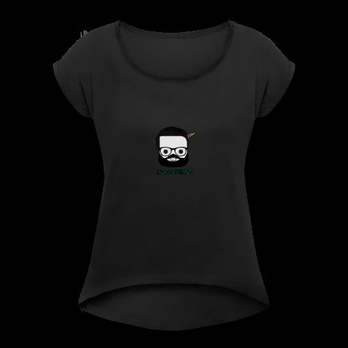 2k Subscribers Merch - Women's Roll Cuff T-Shirt