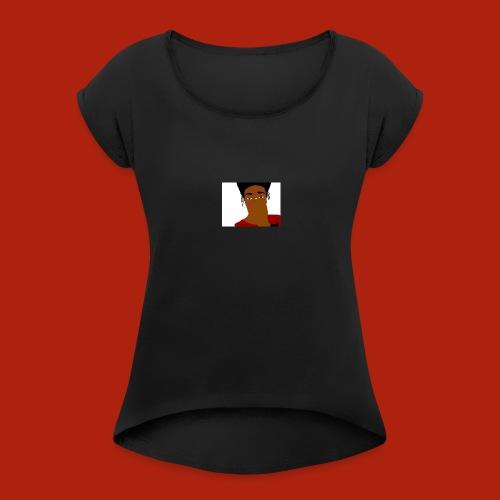 KingKurt's Bad Cartoon - Women's Roll Cuff T-Shirt