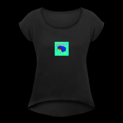 m00npi3 - Women's Roll Cuff T-Shirt