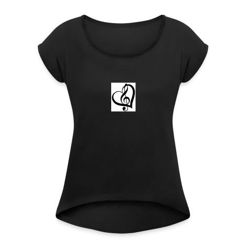 39C2E14D 5721 4FB5 B78E A41B846DFFA8 - Women's Roll Cuff T-Shirt