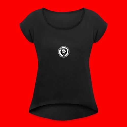 ''American Demon'' - Women's Roll Cuff T-Shirt