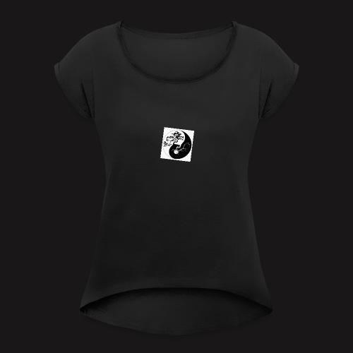 budhist - Women's Roll Cuff T-Shirt