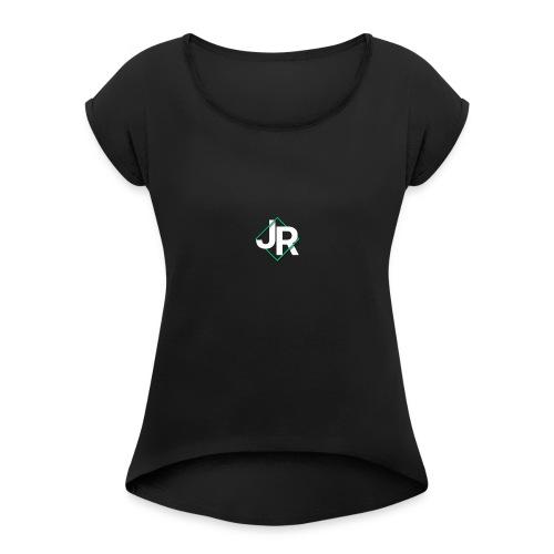 J. R. Swab Logo - Women's Roll Cuff T-Shirt