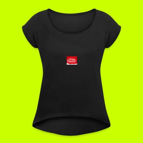 Merry Christmas - Women's Roll Cuff T-Shirt