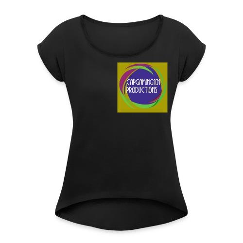 Basic Tee-Shirt. With basic logo - Women's Roll Cuff T-Shirt