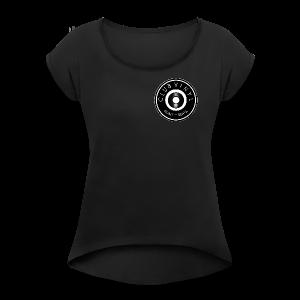 CLUBvinyl RECORDwhite - Women's Roll Cuff T-Shirt
