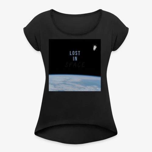 Outer Space - Women's Roll Cuff T-Shirt