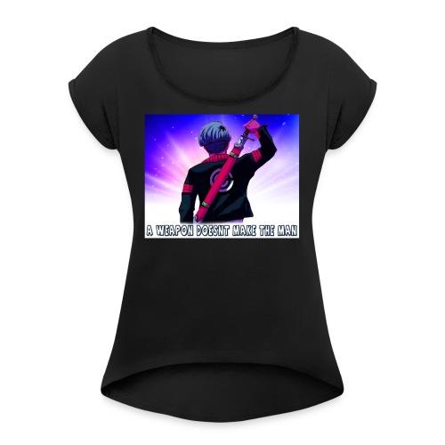 Dragon Ball Z Trunks T-Shirt - Women's Roll Cuff T-Shirt
