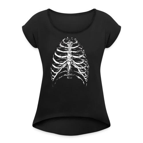 Ribs Ahoy!! - Women's Roll Cuff T-Shirt
