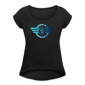 God's Favourite Logo - Women's Roll Cuff T-Shirt
