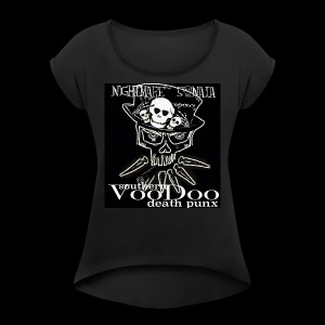 Nightmare Sonata logo - Women's Roll Cuff T-Shirt