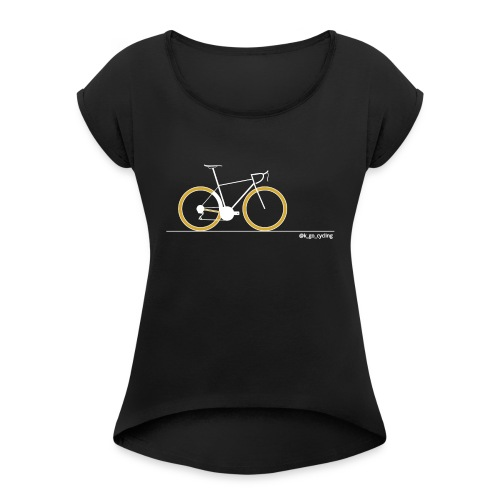 Go Cycling (wht) - Women's Roll Cuff T-Shirt