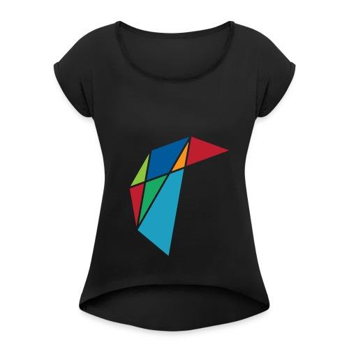 GLARE Logo - Women's Roll Cuff T-Shirt