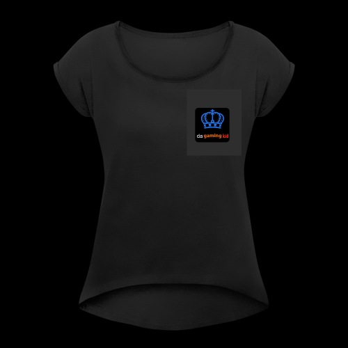 logo - Women's Roll Cuff T-Shirt