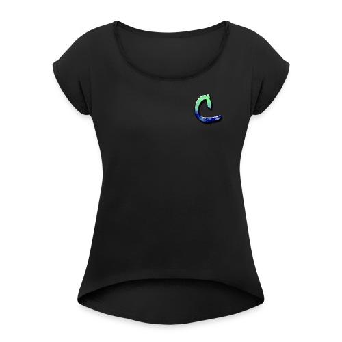 CrevixYT Logo - Women's Roll Cuff T-Shirt