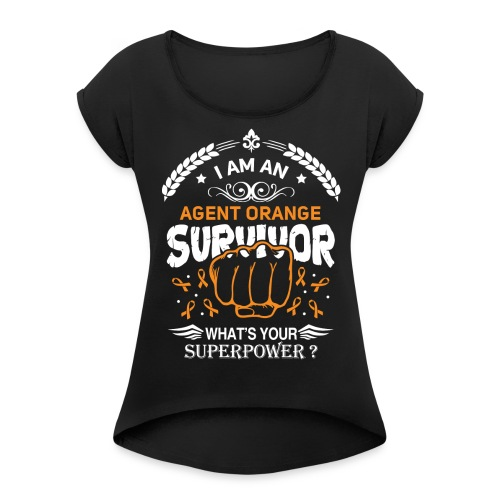 Agent Orange Awareness - Women's Roll Cuff T-Shirt