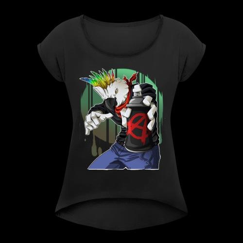 Anarchy Cockatoo - Women's Roll Cuff T-Shirt