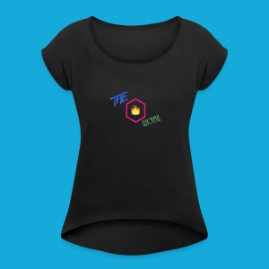 Brand Logo no background - Women's Roll Cuff T-Shirt