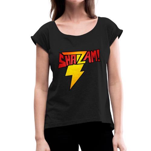 TheComicHQ - SHAZAM! - Women's Roll Cuff T-Shirt