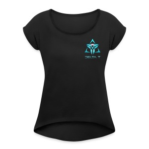Delta T new Logo - Women's Roll Cuff T-Shirt