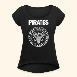 Punk Rock Pirates [legends] - Women's Roll Cuff T-Shirt