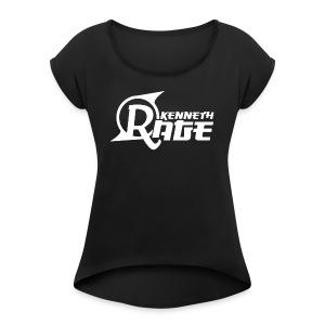 Basic White Kenneth Rage Impression - Women's Roll Cuff T-Shirt