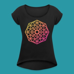 Inverted Snowflake - Women's Roll Cuff T-Shirt