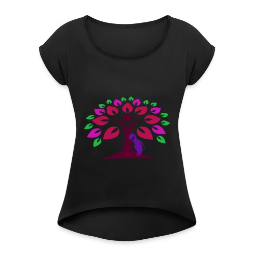 Abstract Nature - Women's Roll Cuff T-Shirt